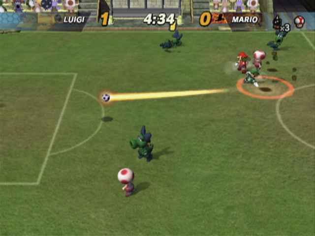 Een team bestaat uit 5 spelers: een aanvoerder (Mario, Luigi, Yoshi etc. ) ,je teamgenoten (Toad, Birdo, Hammer Bross of Koopa), en een Kritter als keeper, elke speler heeft verschillende eigenschappen.