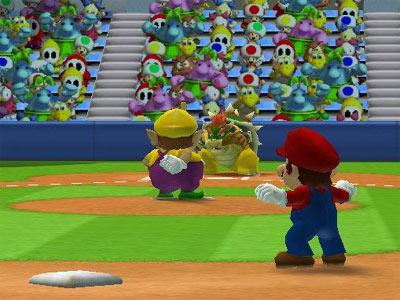 Speel gezellig honkball met mario....