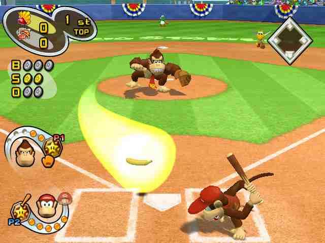 Diddy Kong aan slag...
