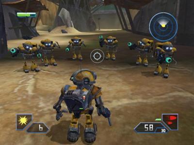 Je staat er niet alleen voor, deze robotjes helpen je de vijand te verslaan. Ze zijn niet sterk maar als team wel erg goed
