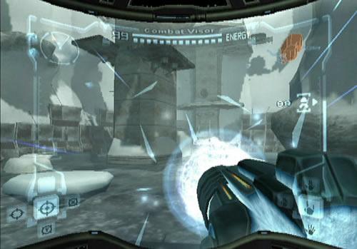 In deze Metroid weer veel upgrades en Beam-wapens, zoals hier de vertrouwde Ice-beam.