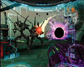 De twee belangrijkste wapens in deze Metroid Prime zijn de Dark (op dit plaatje) en de Light beam.