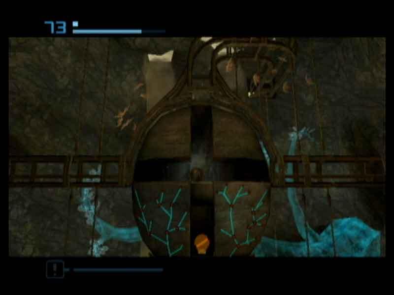 Ook in deze Metroid Prime veel stukken waar je alleen als Morphball langs kunt.