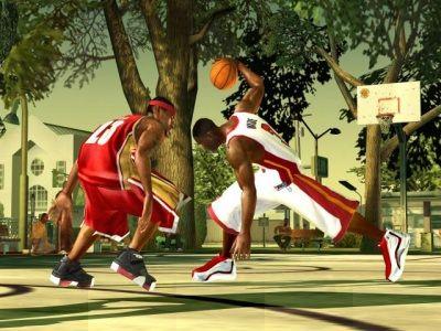 NBA Street V3 zit vol met zeer realistische animaties. Zelfs de sprongen van Mario zijn een beetje geloofwaardig!