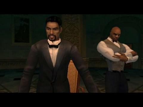 Drake (links) is je tegenstander in deze James Bond