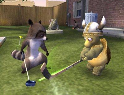 Speel spellen die je buiten zelf ook speelt, maar dan met de helden uit Over The Hedge