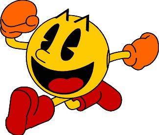 De hoofdrolspeler, de pizza met een hapje, oftewel Pacman!