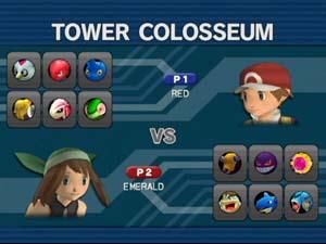 Het gevechts scherm met gekozen pokemon.