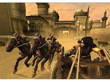 De prins is niet alleen een geboren zwaardvechter maar moet ook het paardenrennen goed kunnen beheren.