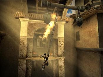 De ketting van de Dark Prince kan o.a. ook worden gebruikt om plaatsen te bereiken die op het eerste gezicht onmogelijk te bereiken zijn.