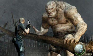 El Gigante, een eindbaas in Resident evil 4. Als je in het begin van het spel iemand geholpen hebt sta je er niet alleen voor tijdens dit gevecht.