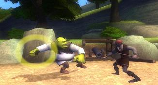 The brave Shrek in a battle