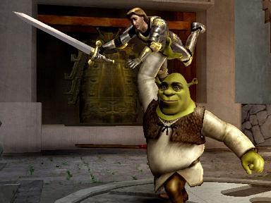 Ik hoop dat Shrek me niet te ver gooit!