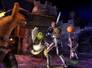 De 3 musketiers (Puss, Shrek & Donkey) tegen Prins Charming.