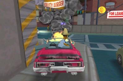 Een brandende wagen?!