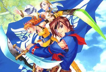 De belangrijkste personages(van boven naar onder) Fina, Aika en Vyse.