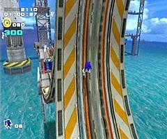 Sonic maakt een looping in de pipe!