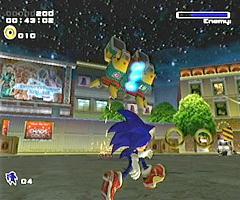 Sonic vecht tegen een eindbaas!