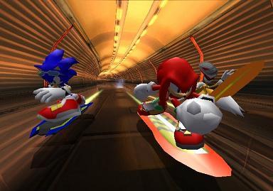Sonic, Knuckles en Tales valt van z`n board!