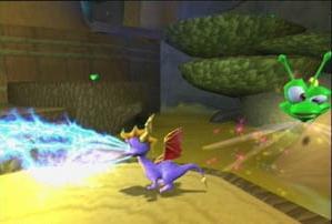 Spyro kan nu ook bliksem spuwen!
