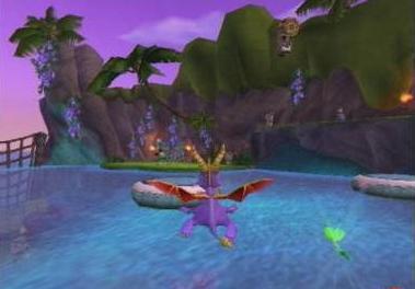 Denk je dat Spyro kan zwemmen?