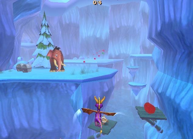 Gooo Spyro! Hier is zeker vuur bij nodig, het is zo koud in deze ijsgrot