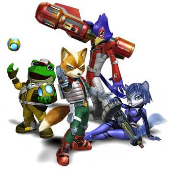 Het Star Fox team in Star Fox Assault.