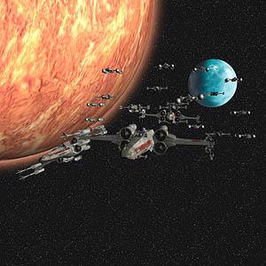 Star Wars file voor de parkeerplaats van de deathstar.