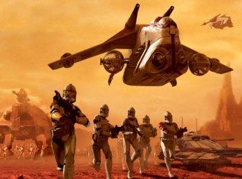 Clone Wars speelt zich af vlak na Episode II, een heldhaftige strijd tussen de Republiek en de Confederacy of Independent Systems.