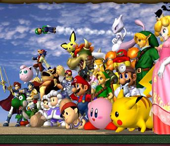 De personages uit Super Smash Bros Melee.