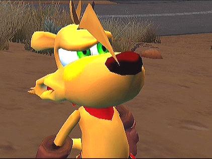 Dit is dus Ty de hoofdrolspeler van het spel.