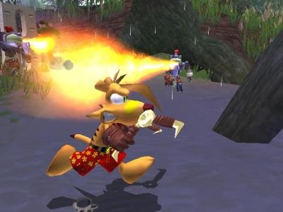 Kijk uit Ty, dadelijk vliegt je staartje in brand!