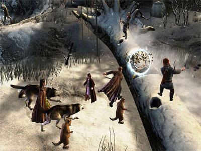 Maak paden vrij, vecht met wolven. Je doet het in Narnia the game