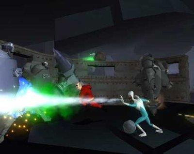Mr.Incredible en Frozone vechten samen tegen het kwaad!