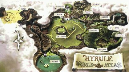 de land kaart van Hyrule