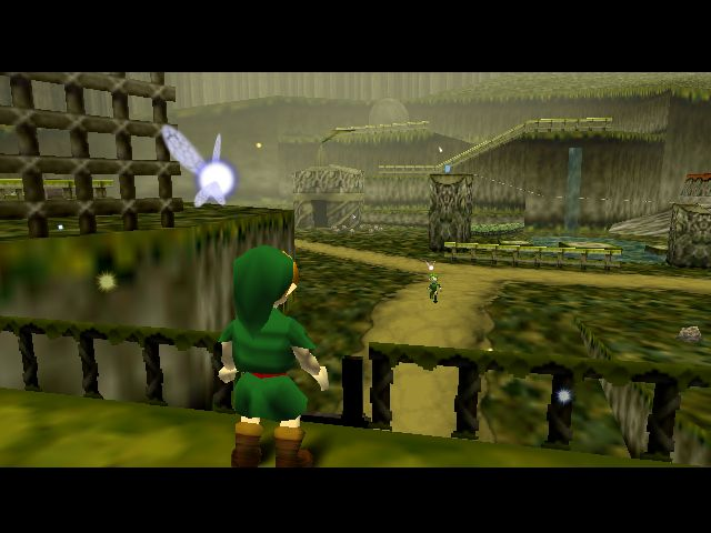 Link in z`n huis in het begin stadje (uit Ocarina of Time)