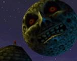 The Legend of Zelda Majora`s Mask. Stop de vallende maan met behulp van maskers waardoor je van gedaante veranderd.