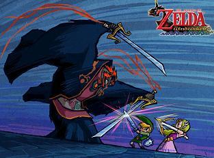 In gevecht met Ganon...