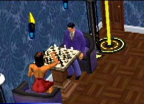 Ook een potje schaken hoort erbij in het leven!