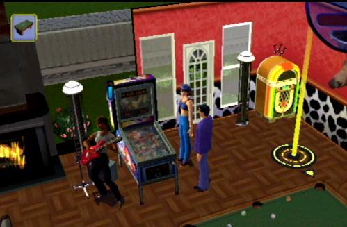 Een biljart, een flipperkast en een jukebox... Wat `n leuke speelruimte!
