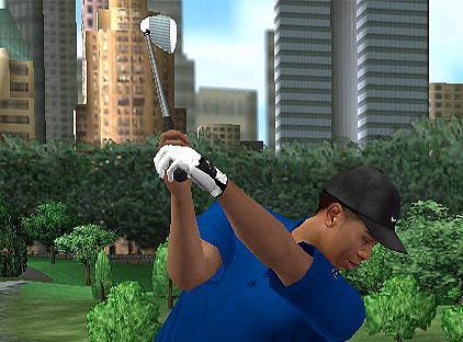 Tussen de hoge gebouwen speel je de spannendste golf-wedstrijden!