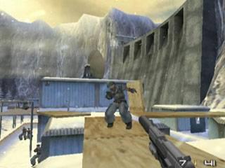 Hier ben je in Siberië, dit level doet veel mensen denken aan Goldeneye 64