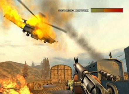Terwijl je toekomstige zelf de chopper opblaast, help jij hem tegen vijanden te beschermen.