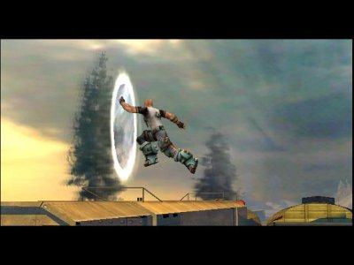 De `wormholes` zijn een belangrijk onderdeel van het spel. Hierdoor komt Cortez in contact met zijn verleden of toekomstige zelf.