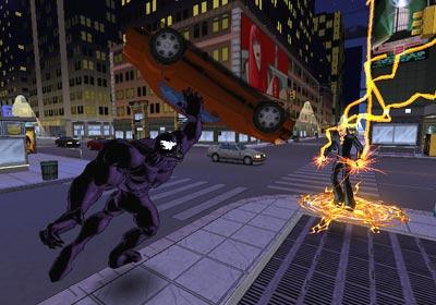 Je kan ook spelen als Venom! Venom is super sterk en kan zelfs een auto optillen en weggooien!