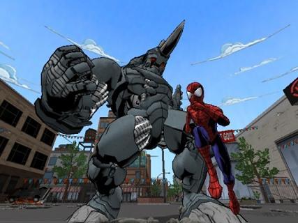 Voor spiderman is geen tegenstander te sterk.
