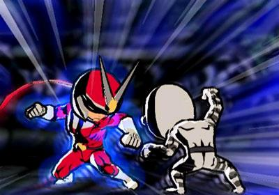 Spannende 1 tegen 1 gevechten zijn aan Viewtiful Joe wel besteed!