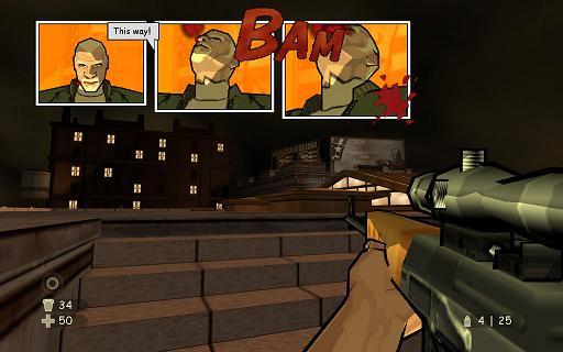 XIII lijkt een kleurrijke, vrolijke game, maar is ook zeer gewelddadig.